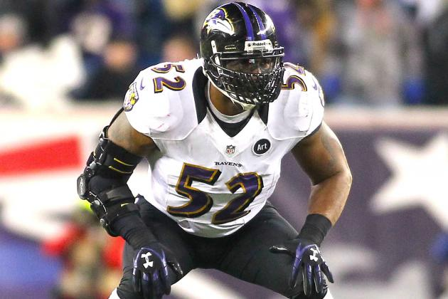 Ray Lewis' Custom Elbow Brace Has Him on the Field for Super Bowl XLVII
