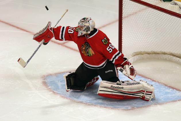 Blackhawks Goalie Corey Crawford Emphasizing Focus, Consistency