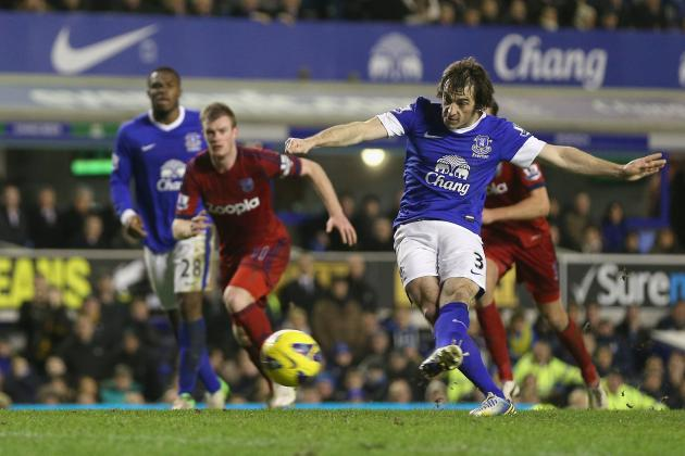 Baines' Double Carries Toffees over West Brom