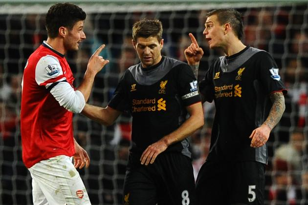 Liverpool Give Up a 2-0 Lead Against Arsenal at Emirates Stadium
