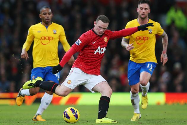 Man Utd Beat Southampton 2-1 Behind Rooney's Double