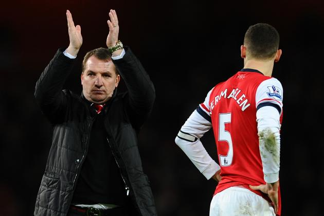 Brendan Rodgers Proud of Liverpool After 2-2 Draw at Arsenal