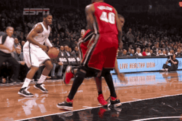 Johnson Breaks Bosh's Ankles
