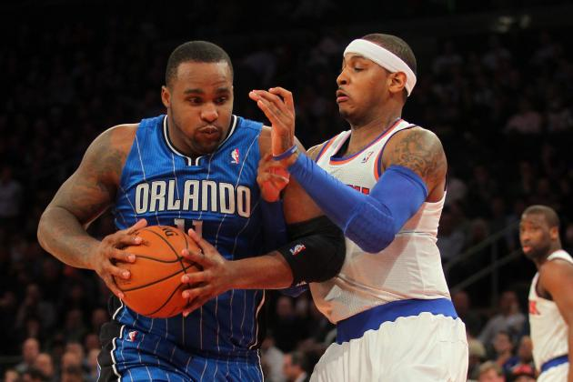 Magic F Glen Davis Hurts Left Foot vs. Knicks