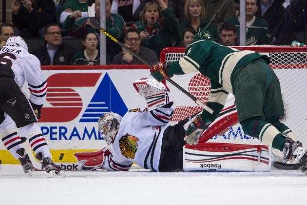 VIDEO: Corey Crawford Robs Pierre-Marc Bouchard