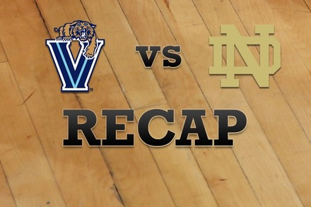 Villanova vs. Notre Dame: Recap and Stats