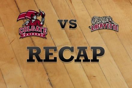 Colgate vs. Lafayette: Recap and Stats