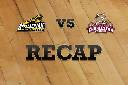 Appalachian State vs. Charleston: Recap and Stats