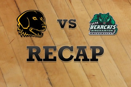 UMBC vs. Binghamton: Recap and Stats