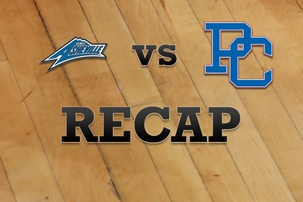 UNC Asheville vs. Presbyterian: Recap and Stats
