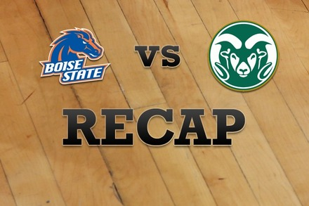 Boise State vs. Colorado State: Recap and Stats