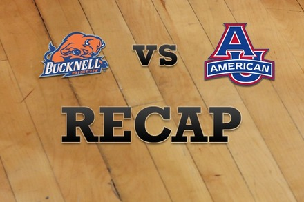 Bucknell vs. American University: Recap and Stats