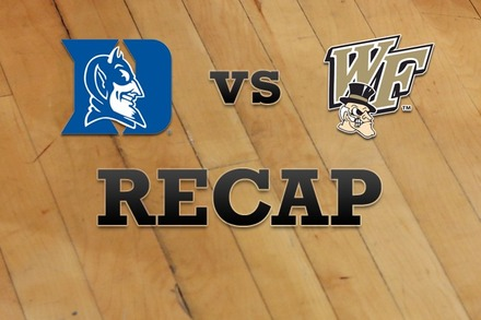 Duke vs. Wake Forest: Recap and Stats