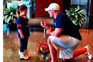 Houston Texans' J.J. Watt Proposes to Little Girl in Cutest Wedding Ever