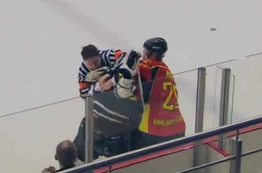Ref Gets Checked, Then Fights Back