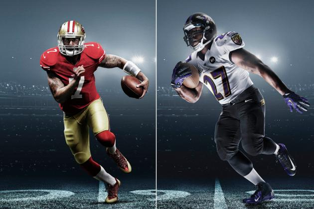 Grading the 49ers' and Ravens' Special Super Bowl Uniforms