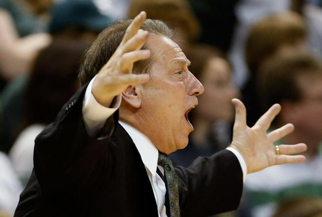Win or lose, Tom Izzo likely has a passionate post-game speech in mind. Spartans are finally playing well, but that's no excuse for such a poor first half.