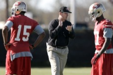 Jim Harbaugh Raves About the 49ers' Super Bowl Week Practices