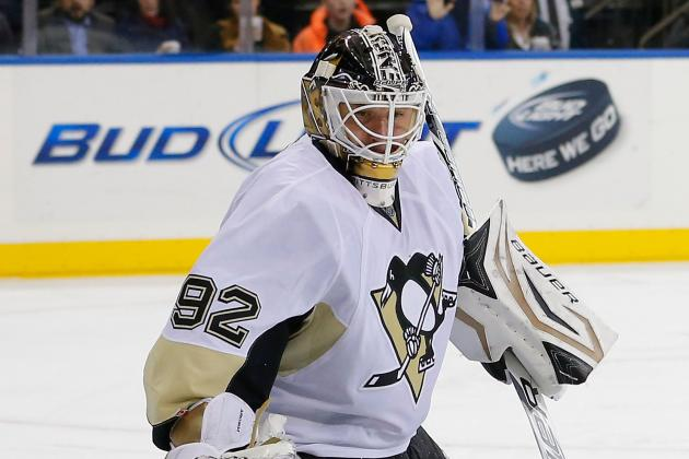 Penguins beat Rangers, 3-0, in Vokoun's 49th career shutout