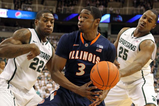 Illinois Basketball's Cold Second Half Leads to 80-75 Loss