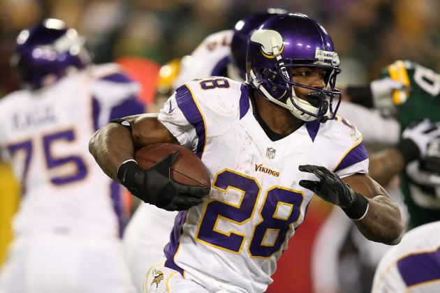 Adrian Peterson Shooting for 2,500 Yards in 2013