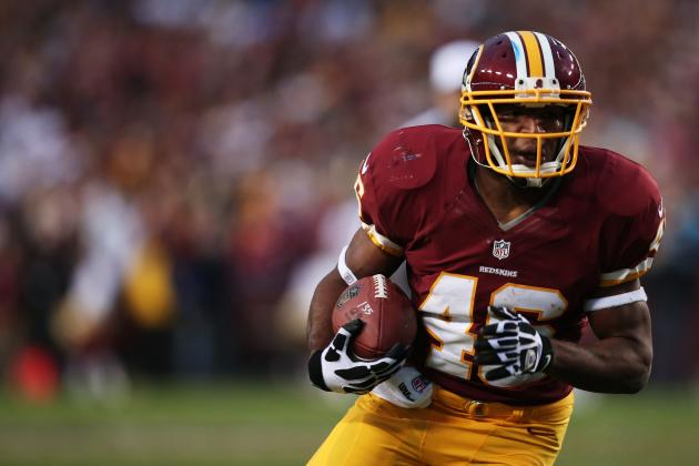 Alfred Morris on Adrian Peterson