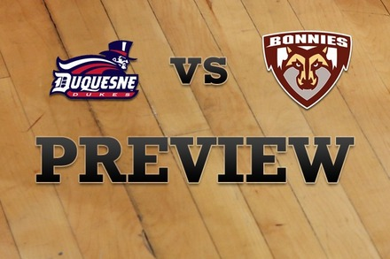 Duquesne vs. St. Bonaventure: Full Game Preview