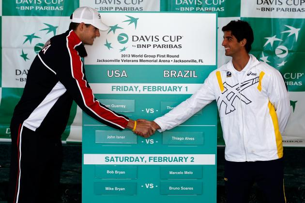 Isner to Lead U.S. Davis Cup Team vs. Brazil