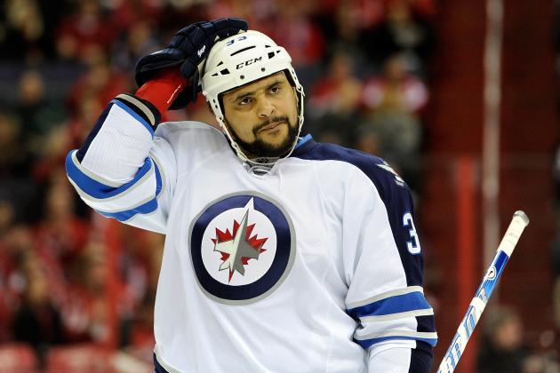 Dustin Byfuglien Listed as Doubtful for Tuesday Night's Game vs. Panthers