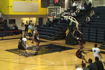 Crazy Bounce off Inbound Play Results in One of the Season's Unusual Basket