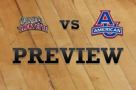 Lafayette vs. American University: Full Game Preview