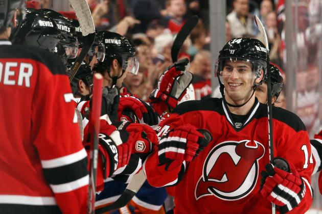 Henrique Practicing at Left Wing on Devils' Top Line