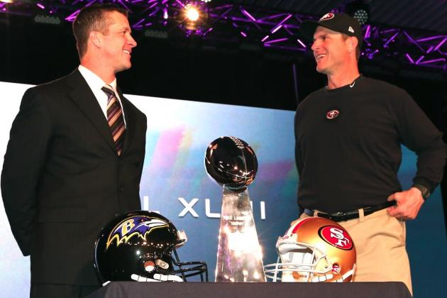 Super Bowl 2013: Biggest Takeaways from Harbaughs' Pregame Press Conference