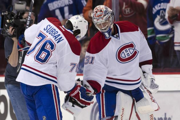 Montreal Bans P.K. Subban's 'Triple-Low 5′ Celebration with Carey Price