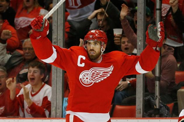 Henrik Zetterberg (Illness) in Red Wings' Lineup Tonight