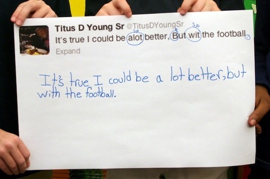 NFL Players' Tweets Receive Hilarious Second-Grade Corrections
