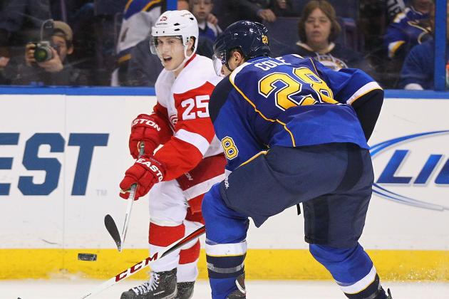 Red Wings Beat Blues 5-3