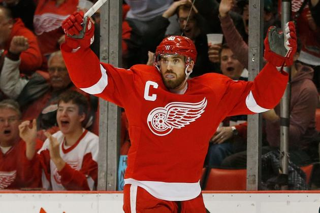 Zetterberg's Hat Trick Propels Wings over Blues