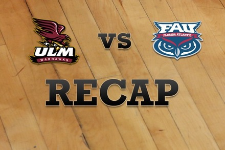 Louisiana-Monroe vs. Florida Atlantic: Recap and Stats