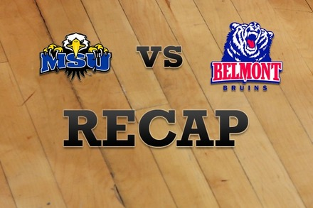 Morehead State vs. Belmont: Recap and Stats