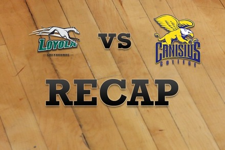 Loyola (MD) vs. Canisius: Recap and Stats
