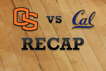 Oregon State vs. California: Recap and Stats