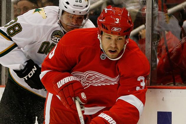 Red Wings' Kent Huskins Leaves Game with Upper-Body Injury...