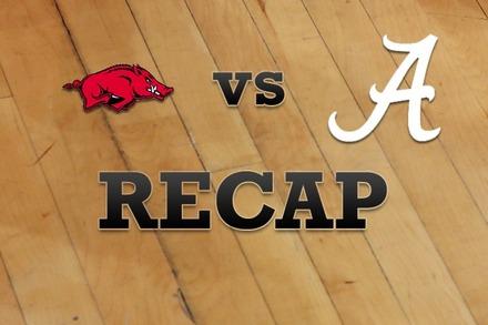 Arkansas vs. Alabama: Recap and Stats
