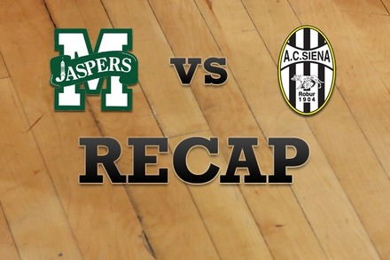 Manhattan vs. Siena: Recap and Stats