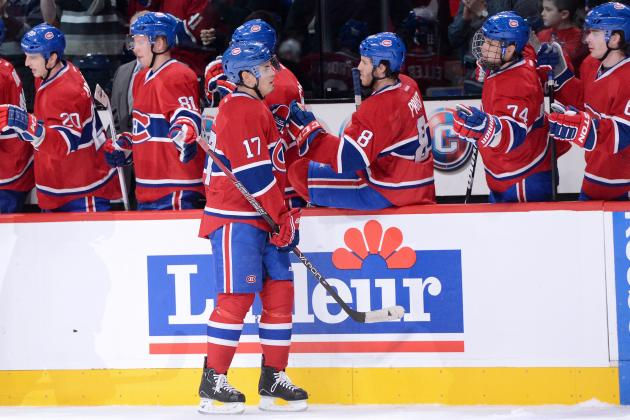 Bourque, Desharnais Score Two Goals Each to Lead Habs Past Sabres 6-1