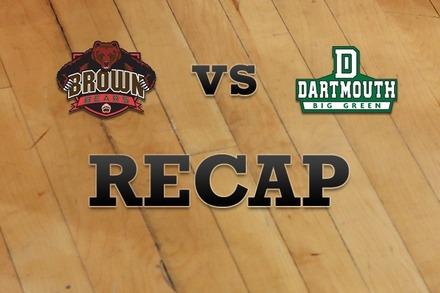 Brown vs. Dartmouth: Recap and Stats