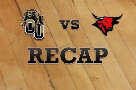 Oakland vs. Nebraska-Omaha: Recap and Stats