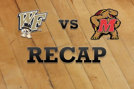 Wake Forest vs. Maryland: Recap and Stats