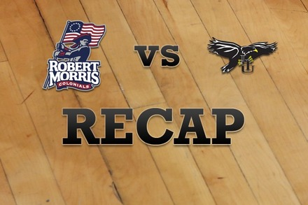 Robert Morris  vs. Long Island: Recap and Stats